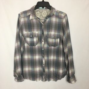 Maurices Long Sleeve Super Soft Button Up Flannel